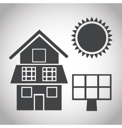 Solar panel and ecology design vector