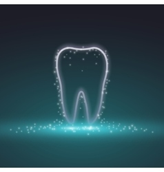 Tooth magic tooth background vector