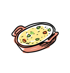 traditional mexican soup hand drawn icon vector image vector image