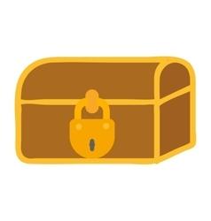 Treasure chest icon vector