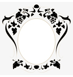 Vintage frame in retro style vector image