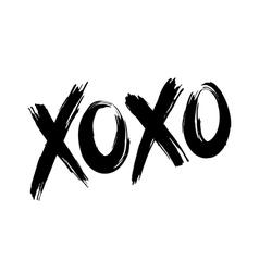 Xoxo hugs and kisses vector