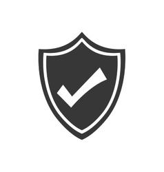 Shield check mark security icon graphic vector
