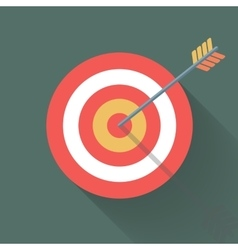Aiming concept the arrow in bulls eye vector