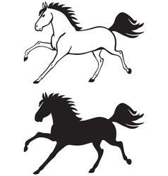 Horse contour vector