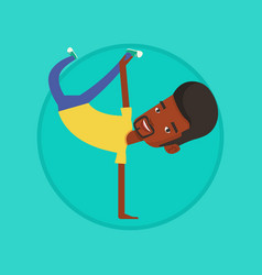 Young man breakdancing vector