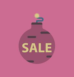 flat icon of christmas ball sale vector image