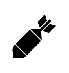 Air bomb icon vector