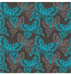Bright seamless pattern with blue decorative vector