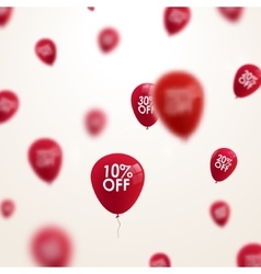 3D blurred red discount balloons design SALE vector image vector image
