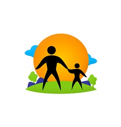 Family ecology health life vector