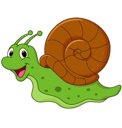 Cute cartoon snail vector