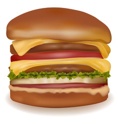 big cheeseburger vector image