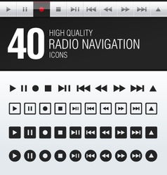 40 hi quality radio navigation icons vector