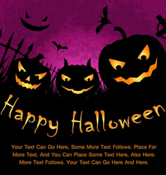 Happy halloween poster vector