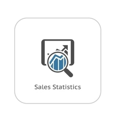 Sales statistics icon business concept vector