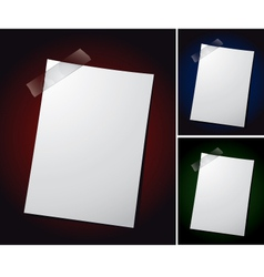 note paper on different backgrounds vector image