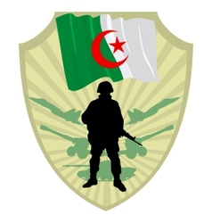 Army of algeria vector