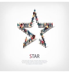 Star people sign 3d vector