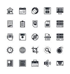 User Interface and Web Colored Icons 1 vector image