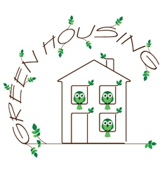 Green housing vector