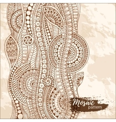 Hand drawn tribal ethnic pattern Doodle grunge vector image