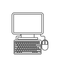 Computer and mouse design gadget concept vector