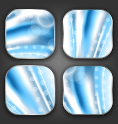 Abstract wavy backgrounds with for the app icons vector image
