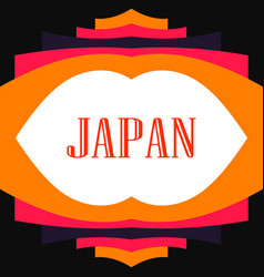 Asian abstract geometric frame japan zen like vector