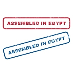 Assembled in egypt rubber stamps vector