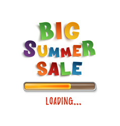 Big summer sale loading poster template vector