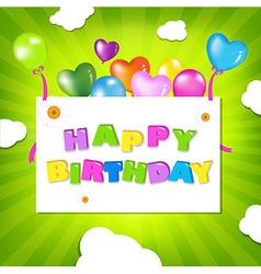 Birthday Design vector image