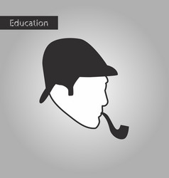 black and white style icon sherlock holmes vector image