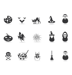 black halloween icon vector image vector image
