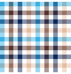 Blue beige check seamless fabric texture vector