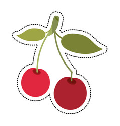 cartoon cherry berry nutrition icon vector image vector image
