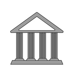 Color silhouette cartoon skecth parthenon vector
