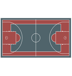 Colorful baseball court top view icon isolated on vector