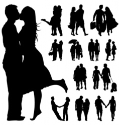 couple people vector image vector image