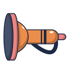 cute toy trumpet icon cartoon style vector image