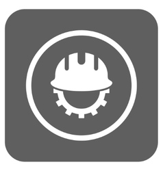 Development hardhat flat squared icon vector