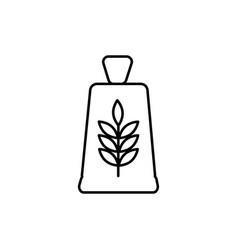 flour bag icon vector image