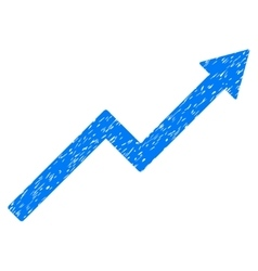 Growth trend chart grainy texture icon vector