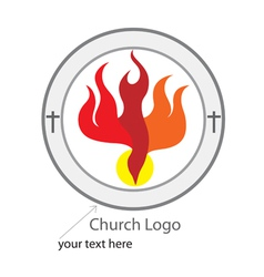 Holy spirit church logo vector