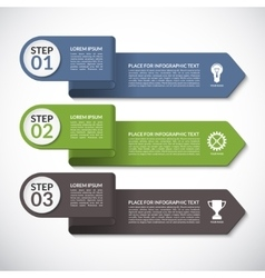 Infographic template banner with 3 options vector image vector image