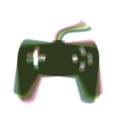 Joystick simple sign colorful icon shaked vector