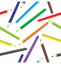 pencils background vector image vector image