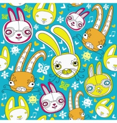 rabbit background vector image vector image