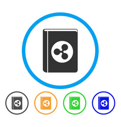 ripple book rounded icon vector image