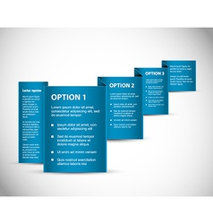 Set of Blue Sample option paper origami vector image
